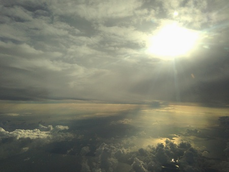 view: Cloudy sky