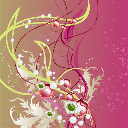 Precious Bouquet. Holiday Arrangement. Bright abstract background. Vector