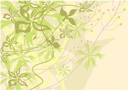 Air background. Delicate palette. Abstraction. Movement of leaves, stems. Stock Vector - 8289679