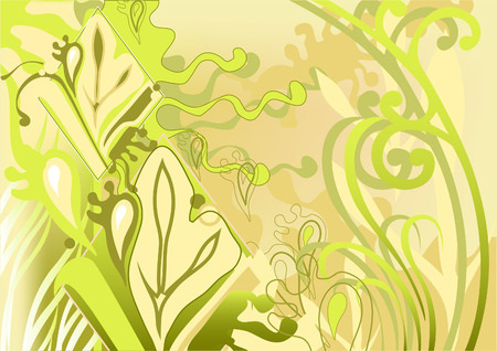 Air background. Delicate palette. Abstraction. Movement of leaves, stems. Stock Vector - 8289690