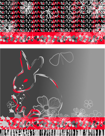 Symbol next year. Abstract background. Rabbit Christmas Stock Vector - 8379298