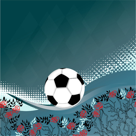 birthplace: Symbol of England rose. Birthplace of football England. Illustration