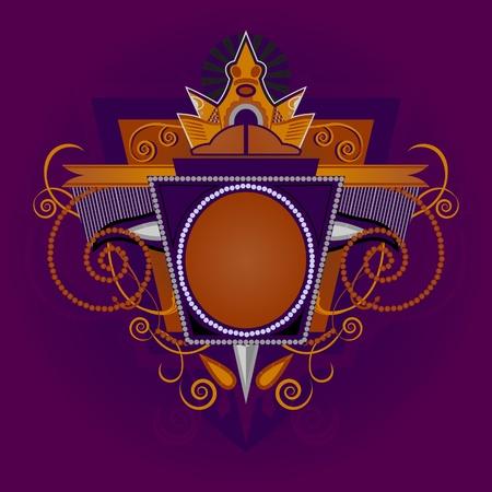 The royal emblem. Classic vintage sign. Vector