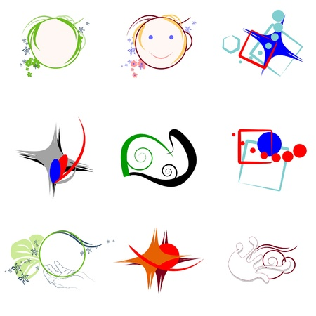 Group logos and icons. Graphic elements for design. Stock Vector - 9410296