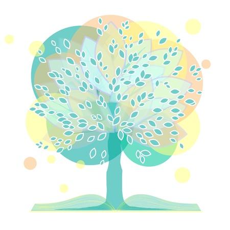 arbol de la sabiduria: �rbol ornamental en tres versiones. Un �rbol con un libro.
