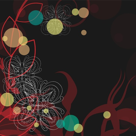 Background with snowflakes. Abstraction with flowers and snowflakes. Stock Vector - 10927944
