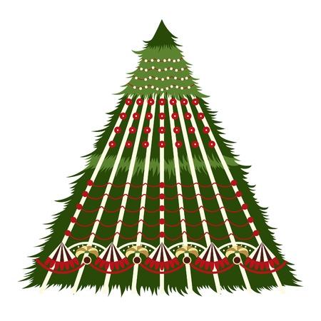 Christmas card. Sample Christmas fir. Stock Vector - 11274308