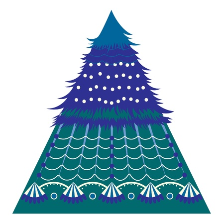 Holiday card with a Christmas fir. Background for the congratulations. Stock Vector - 11274307