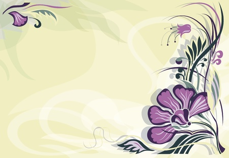 The invitation to the feast. Floral background.