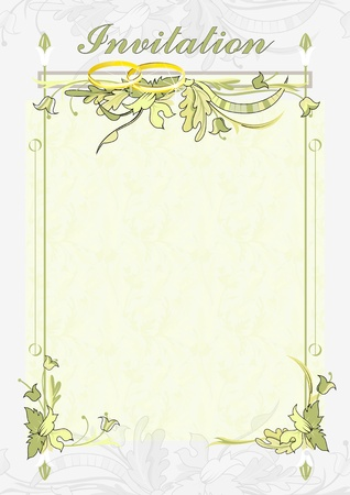 wedding reception decoration: The background for the text wedding invitations. Wedding Card.
