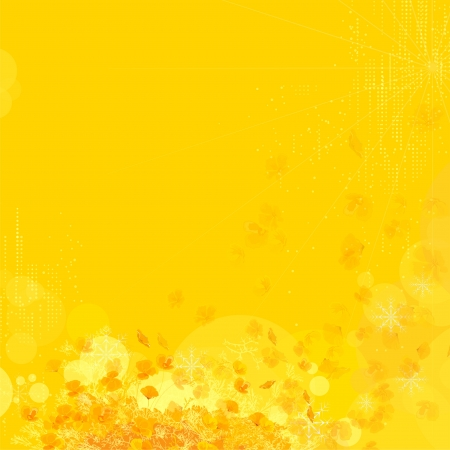 Flower background. Yellow sunlight background for the design.