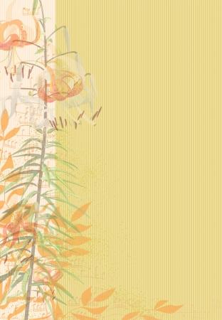 herbstblumen: Die Stimmung, die Musik, der Herbst - fertig Hintergrund. Herbst Tage mit Musik.