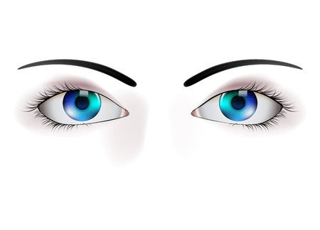 eye closeup: beautiful eye illustration