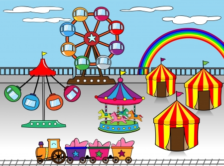 Amusement park Stock Vector - 17448589
