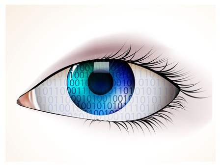 digital eye Stock Vector - 17448604