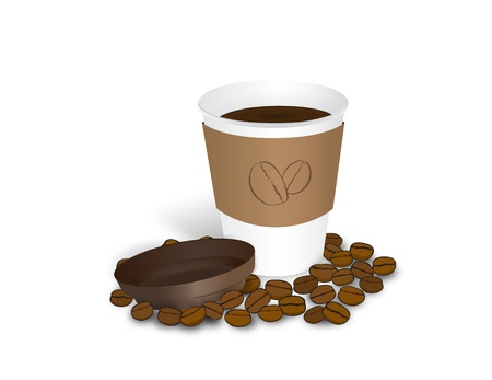 coffee cap Stock Vector - 17448602