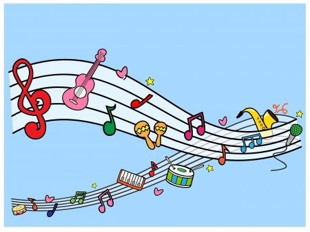 semiquaver: Musical Illustration