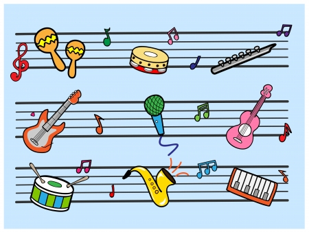 Musical Stock Vector - 17448586