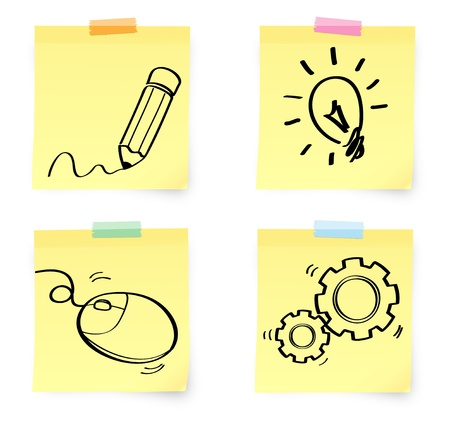 idea note Vector