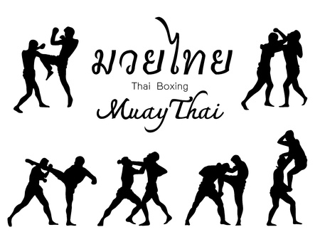 Beautiful martial arts of Thailand  Vector