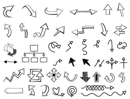 arrow Monochrome White and black cartoon