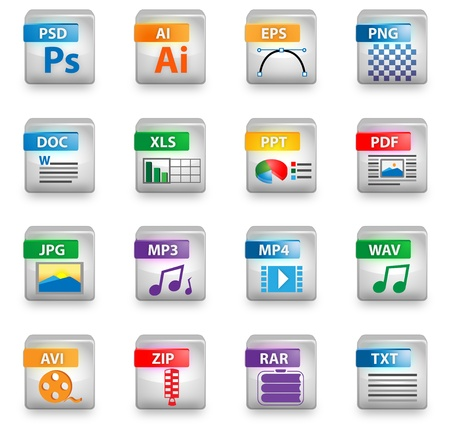 Icon set colors for web design Vector