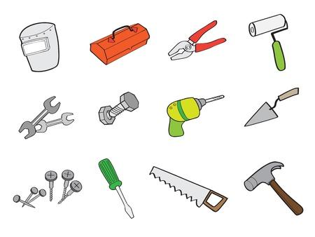 Technician tool cartoon outline