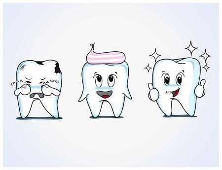 teeth Caries cartoon