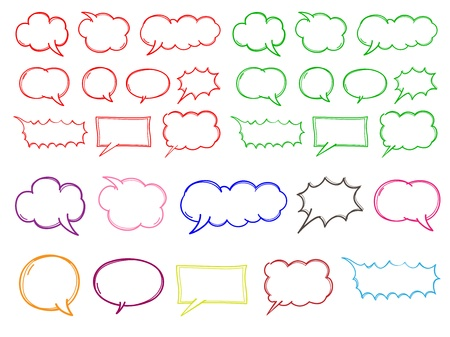 chat bubble color Vector