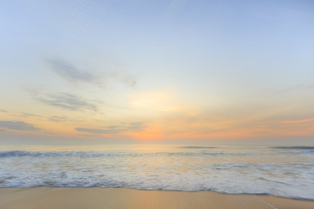 Bright sky and sunrise In Prachuabkhirikhan, Thailand
