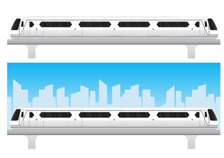 high speed railway: White Bangkok skytrain vector