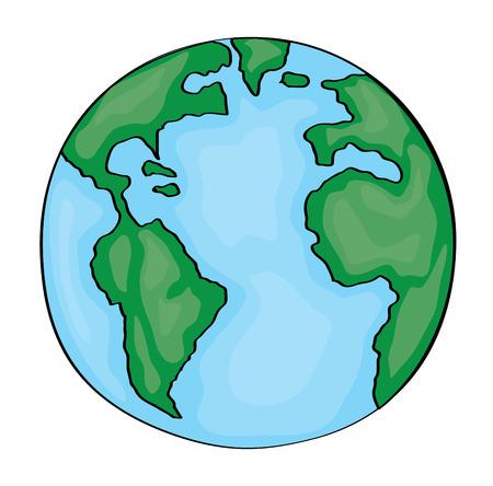 Earth Cartoon 2D. Vector