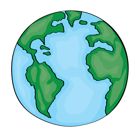 Earth Cartoon 2D. Vector