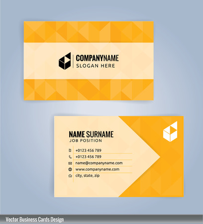 Yellow and White modern business card template, Illustration