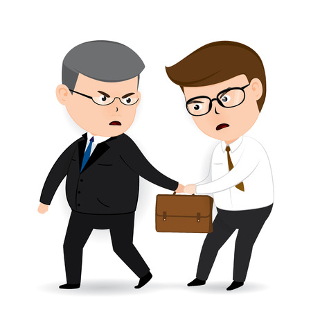Businessman Disagreement, business concept 矢量图片