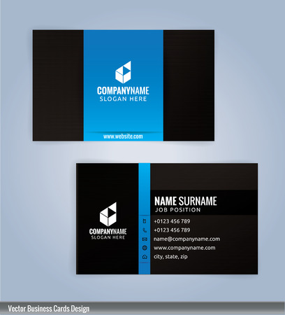 Black and blue modern business card template illustration royalty black and blue modern business card template illustration stock vector 53961298 fbccfo Image collections