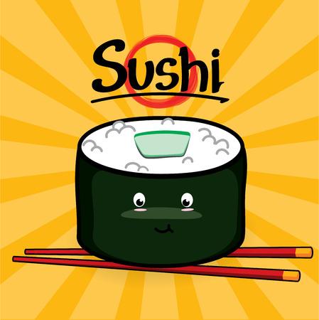 Kappa Maki Sushi cartoon