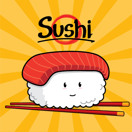 expensive food: Toro Sushi cartoon