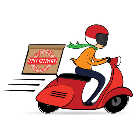 free delivery cartoon