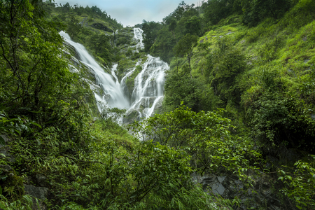 Heart Shaped Waterfall, Waterfall Ple To Lo Su in Umphang, Tak Province, Thailand Banque d'images