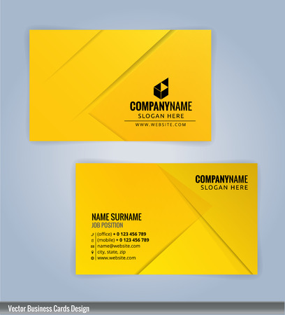 modern business: Yellow and Black modern business card template, Illustration Vector 10 Illustration