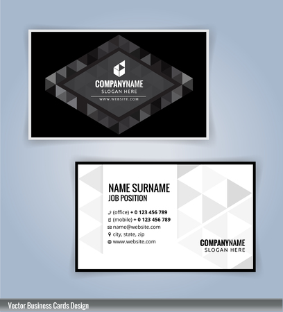 black and white: Black and White modern business card template, Illustration Vector 10 Illustration