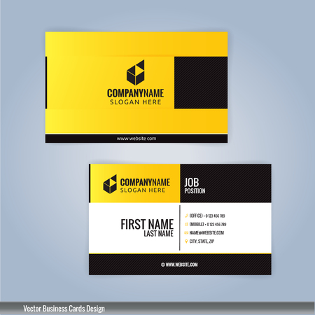 Yellow and black modern business card template illustration vector yellow and black modern business card template illustration vector 10 accmission Images