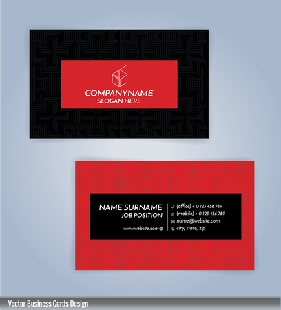 Red and black color modern business card template illustration red and black color modern business card template illustration royalty free cliparts vectors and stock illustration image 70235646 accmission