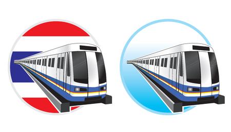 highspeed: Bangkok subwaytrain icon vector illustration