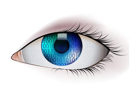 digital eye: Digital Eye, vector illustration Illustration