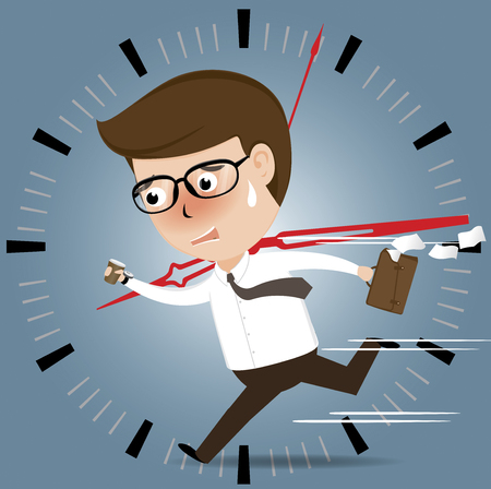 Businessman Rushing to work deadline time