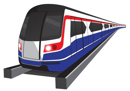 Bangkok skytrain icon vector illustration