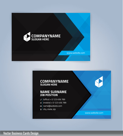Blue and black modern business card template illustration vector blue and black modern business card template illustration vector 10 stock vector 71343849 fbccfo