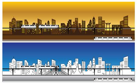 Skytrain Silhouette, vector